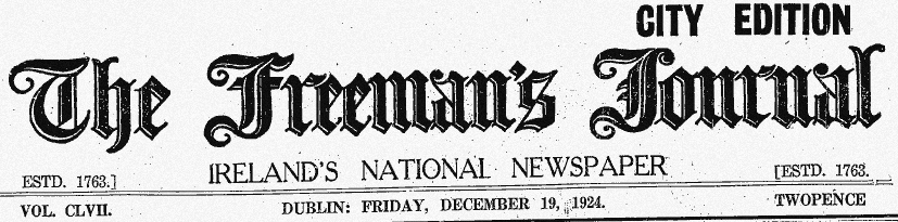 freemans-journal-masthead-friday-19-december-1924
